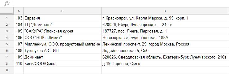 «Дадата» принимает данные в excel-файлах