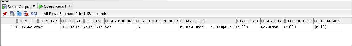 Невсегда информация приходит изOSM вправильном формате