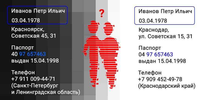 Первые две цифры в сериях разные, но совпадают номера
